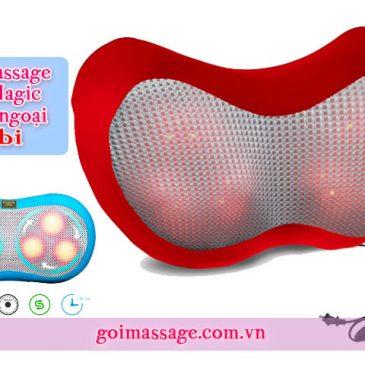 Gối massage hồng ngoại 6 bi 3D Magic đa năng