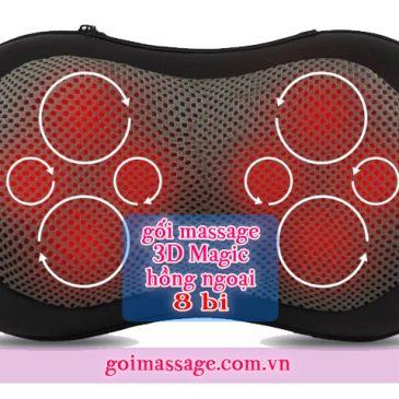 Gối massage hồng ngoại 8 bi Nhật Bản xịn