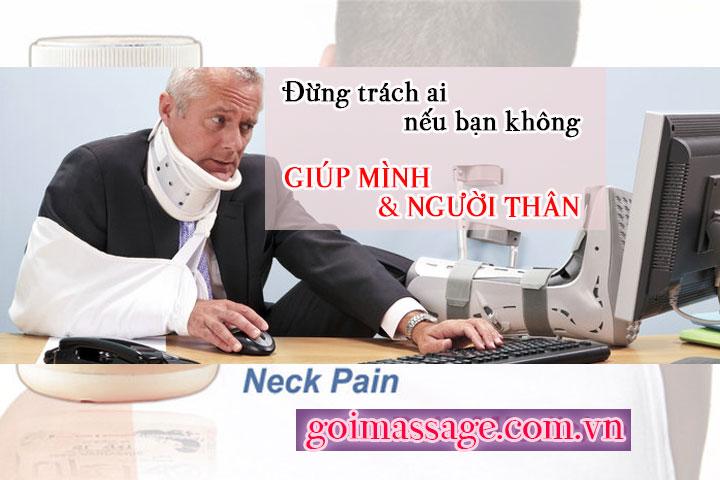 Chứng đau nhức mỏi cổ gáy vai lưng ở người già