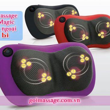 Gối massage 3D Magic hồng ngoại 4 bi đa năng