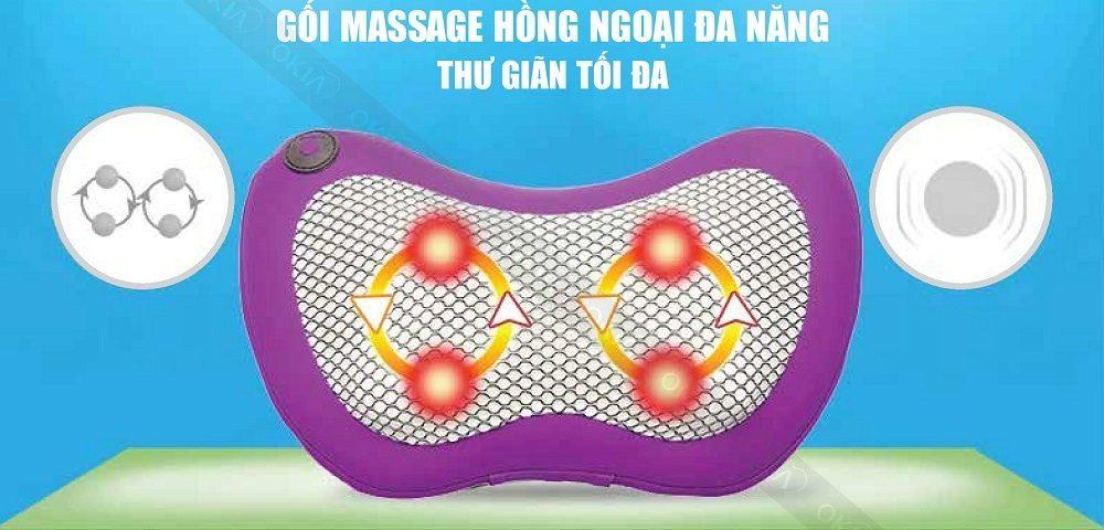 Gối massage hồng ngoại đa năng - Thư giãn tối đa