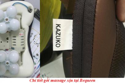 Phân biệt gối massage hồng ngoại đa năng Kazuko xịn và hàng nhái