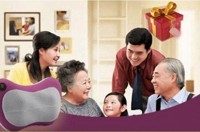 Gối massage hồng ngoại đa năng cho người cao tuổi